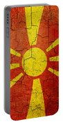 Grunge Macedonia Flag Portable Battery Charger