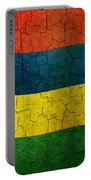 Grunge Mauritius Flag Portable Battery Charger