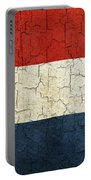 Grunge Netherlands Flag Portable Battery Charger