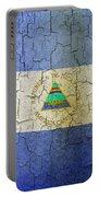Grunge Nicaragua Flag Portable Battery Charger