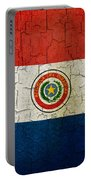 Grunge Paraguay Flag Portable Battery Charger