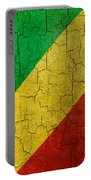 Grunge Republic Of The Congo Flag Portable Battery Charger