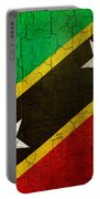 Grunge Saint Kitts And Nevis Flag Portable Battery Charger