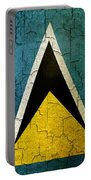 Grunge Saint Lucia Flag Portable Battery Charger