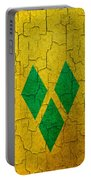 Grunge Saint Vincent And The Grenadines Flag Portable Battery Charger