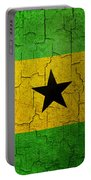 Grunge Sao Tome And Principe Flag Portable Battery Charger