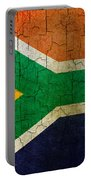 Grunge South Africa Flag Portable Battery Charger