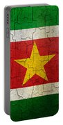 Grunge Suriname Flag Portable Battery Charger