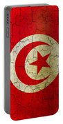 Grunge Tunisia Flag Portable Battery Charger