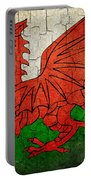 Grunge Wales Flag Portable Battery Charger