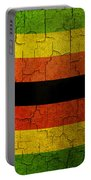 Grunge Zimbabwe Flag Portable Battery Charger