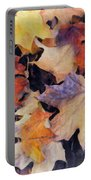 Grungy Autumn Leaves Portable Battery Charger