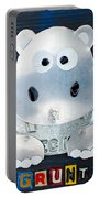 Grunt The Hippo License Plate Art Portable Battery Charger
