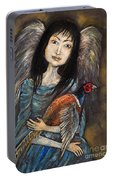 Guardian Angel Of Pheasants Portable Battery Charger