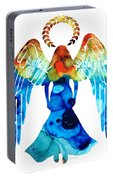 Guardian Angel - Spiritual Art Painting Portable Battery Charger