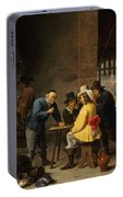 Guardroom With The Deliverance Of Saint Peter Portable Battery Charger