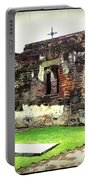 Guatemalan Church Courtyard Ruins Portable Battery Charger