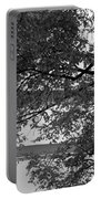 Guggenheim And Trees In Black And White Portable Battery Charger