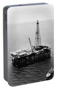 Gulf Of Mexico Oil Rig, 1950 Portable Battery Charger