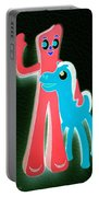 Gumby And Pokey B F F Negative Portable Battery Charger