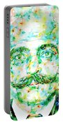 Gurdjieff- Watercolor Portrait Portable Battery Charger