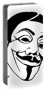 Guy Fawkes Face Original Pop Art Painting Portable Battery Charger