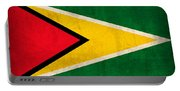 Guyana Flag Vintage Distressed Finish Portable Battery Charger