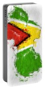Guyana Painted Flag Map Portable Battery Charger