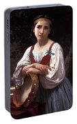 Gypsy Girl With A Basque Drum Portable Battery Charger
