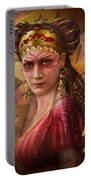 Gypsy Woman Portable Battery Charger by Ciro Marchetti