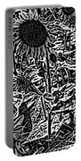 H2 Sunflowers Map Bw Portable Battery Charger