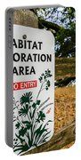 Habitat Restoration Area Sign In Shiloh Portable Battery Charger