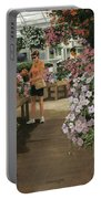 Haefner's Garden Center Impatiens Portable Battery Charger