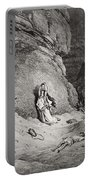 Hagar And Ishmael In The Desert Portable Battery Charger