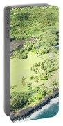 Aerial View Hale O Pi'ilani Heiau Honomaele Hana Maui Hawaii  Portable Battery Charger