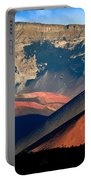 Haleakala Cinder Cones Lit From The Sunrise Within The Crater Portable Battery Charger