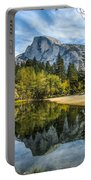 Half Dome Reflected In The Merced River Portable Battery Charger