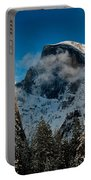 Half Dome Winter Portable Battery Charger by Bill Gallagher