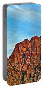 Half Moon Over Zion National Park-utah Portable Battery Charger