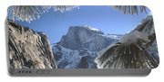 2m6757-halfdome In Winter Portable Battery Charger