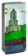 Halifax Historic Town Clock Poster Portable Battery Charger