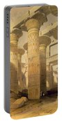 Hall Of Columns, Karnak, From Egypt Portable Battery Charger by David Roberts