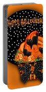 Halloween Black Cat Cupcake 2 Portable Battery Charger