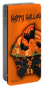 Halloween Black Cat Cupcake 3 Portable Battery Charger