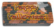 Halloween Greeting Card - Brick Wall In Philadelphia Portable Battery Charger