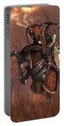 Halloween Knight Portable Battery Charger by Daniel Eskridge