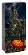 Halloween Spot Portable Battery Charger by Mo T