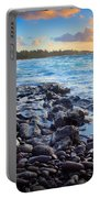 Hana Bay Sunrise Portable Battery Charger by Inge Johnsson
