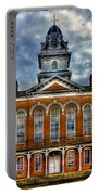 Before It Burned Hancock County Courthouse Art Portable Battery Charger