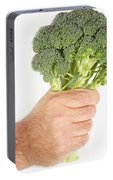 Hand Holding Broccoli Portable Battery Charger